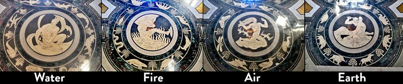 Rotunda Floor Mosaics - Water,Fire,Air & Earth 0801_0201