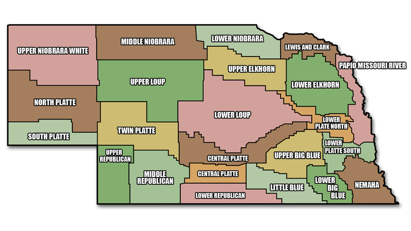 Map of NRD Districts in Nebraska 0801_0801