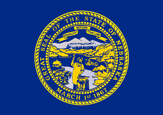 Nebraska State Flag with Seal